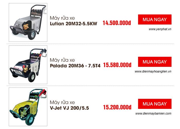 Một số sản phẩm máy rửa xe công nghiệp nổi bật hiện nay