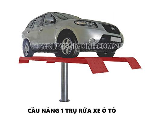 Cầu nâng 1 trụ không thể thiếu trong thiết bị rửa xe ô tô chuyên nghiệp