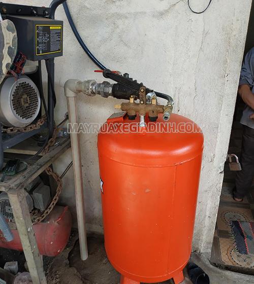 Thi công tiệm rửa xe của anh Tuấn ở Ninh Bình