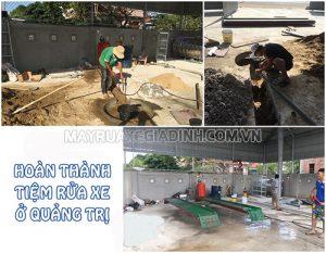 Thi công tiệm rửa xe cho anh An ở Quảng Trị
