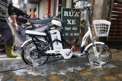 Rửa xe đạp điện đúng cách