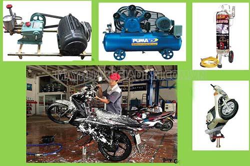Để mở tiệm rửa xe máy, bạn cần chuẩn bị vốn, mặt bằng, mua sắm các trang thiết bị,...
