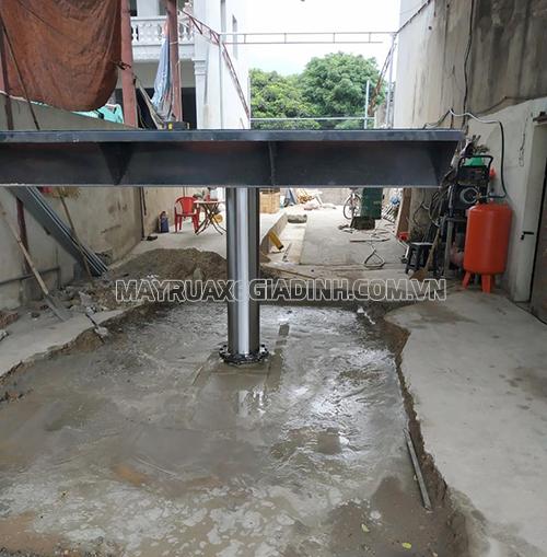 Cầu nâng 1 trụ cho tiệm rửa xe