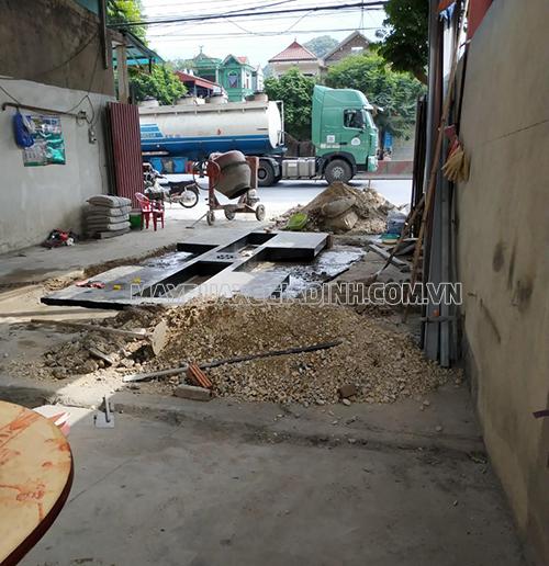 Cơ sở rửa xe của anh Tuấn ở Ninh Bình