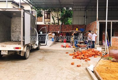 Thi công tiệm rửa xe cho anh Hùng ở Đà Nẵng