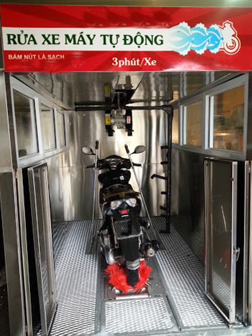 Hệ thống rửa xe máy tự động có sạch không