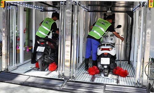 Hệ thống rửa xe máy tự động nhanh chóng