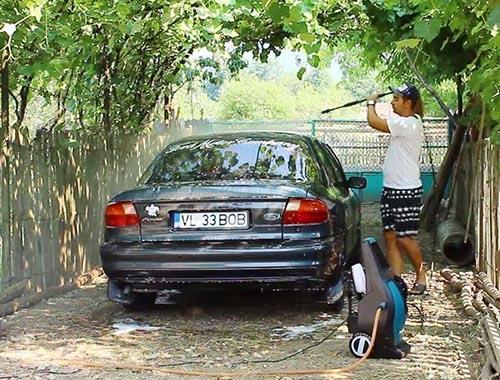 Máy rửa xe không lên nước, không lên áp