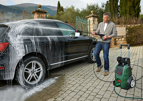 Vận hành máy bơm rửa xe khi thay áp