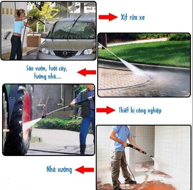 Máy rửa xe mini với nhiều ưu điểm