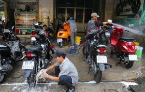 Máy rửa xe máy gia đình