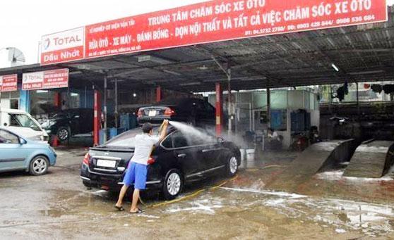 Khả năng phun rửa mạnh mã của máy rửa xe