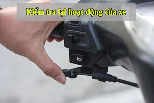 Kiểm tra hoạt động của xe sau khi chỉnh garanti