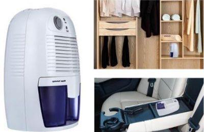 Máy hút ẩm mini cho tủ quần áo luôn khô ráo, thơm tho