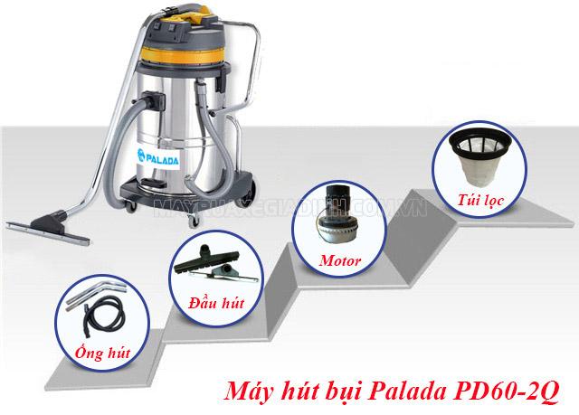 Giới thiệu máy hút bụi công nghiệp Palada