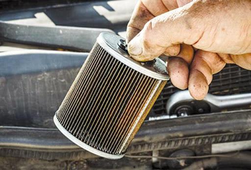 Lọc xăng lưu giữ lại những cặn rỉ sắt trong nhiên liệu