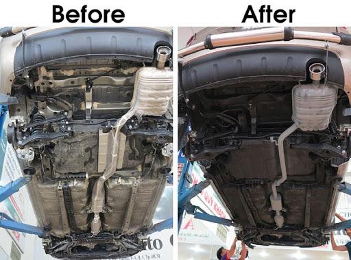 Sự khác biệt trước và sau khi phủ gầm