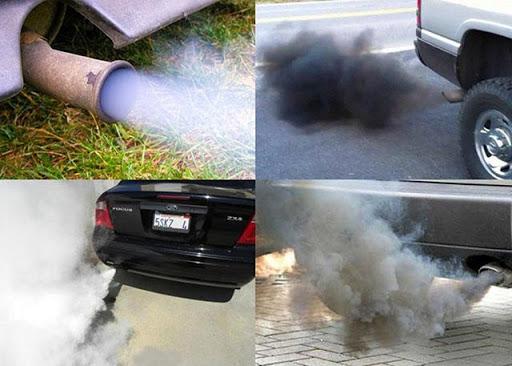 Màu khói xả thải cho biết động cơ đang gặp vấn đề