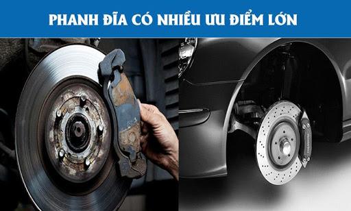 Phanh đĩa được lắp đặt phổ biến trên ô tô