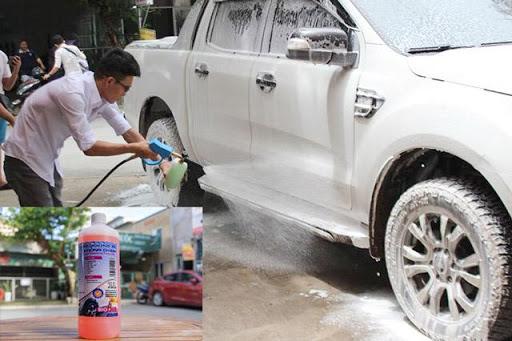 Sử dụng nước rửa xe không chạm với súng tạo bọt