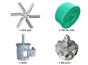 Linh kiện tháp giải nhiệt làm từ những vật liệu tốt có độ bề cao