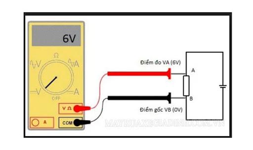 cách đo hiệu điện thế bằng thiết bị Vôn kế