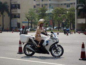 Xe máy chuyên dùng được sử dụng cho đội ngũ cảnh sát giao thông