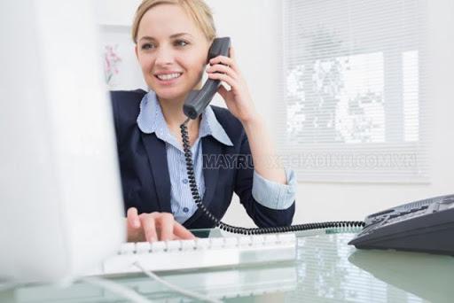 Thao tác thực hiện cuộc gọi điện thoại bàn