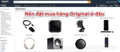 Mua hàng Original trên Amazon.com