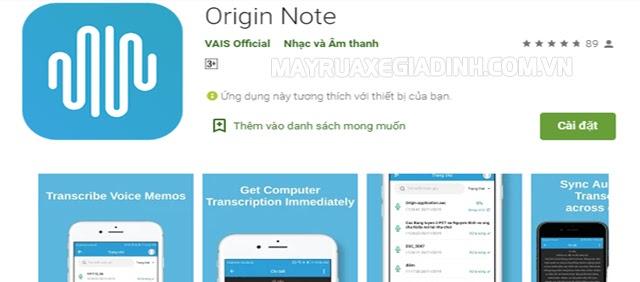 Origin Note