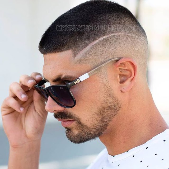 Kiểu tóc 3 phân đẹp kẻ line
