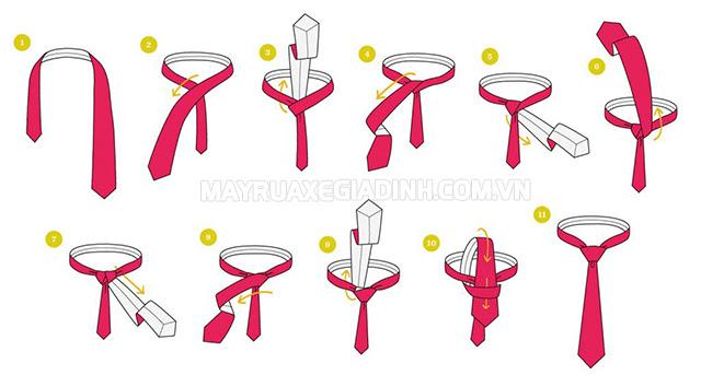 Cách thắt cà vạt nữ nhanh truyền thống