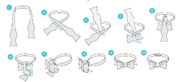 Cách thắt cà vạt nữ kiểu mới hình nơ