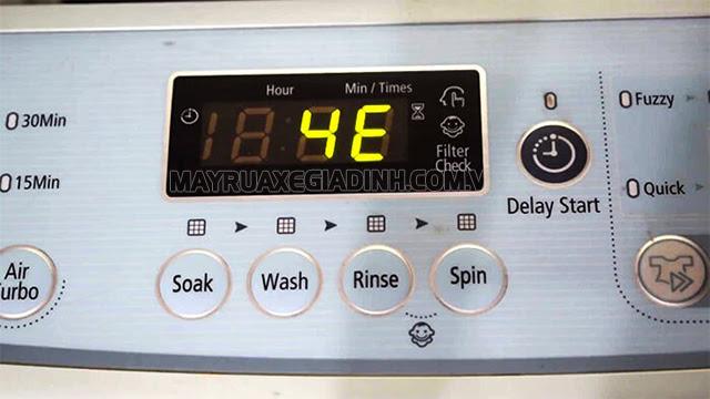 Máy giặt Samsung báo lỗi 4E