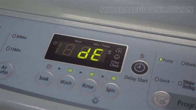 Lỗi DE ở máy giặt Samsung
