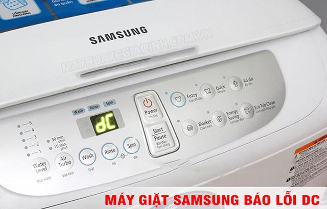 Máy giặt Samsung báo lỗi DC