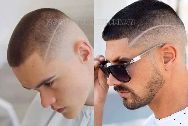Kiểu tóc đầu đinh 2021 kẻ đường line